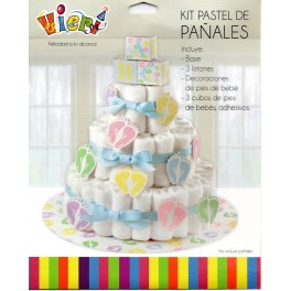 Kit para Decorar Torta de Pañales